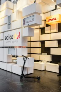 Saloodo! stand at the trade fair in Hannover.