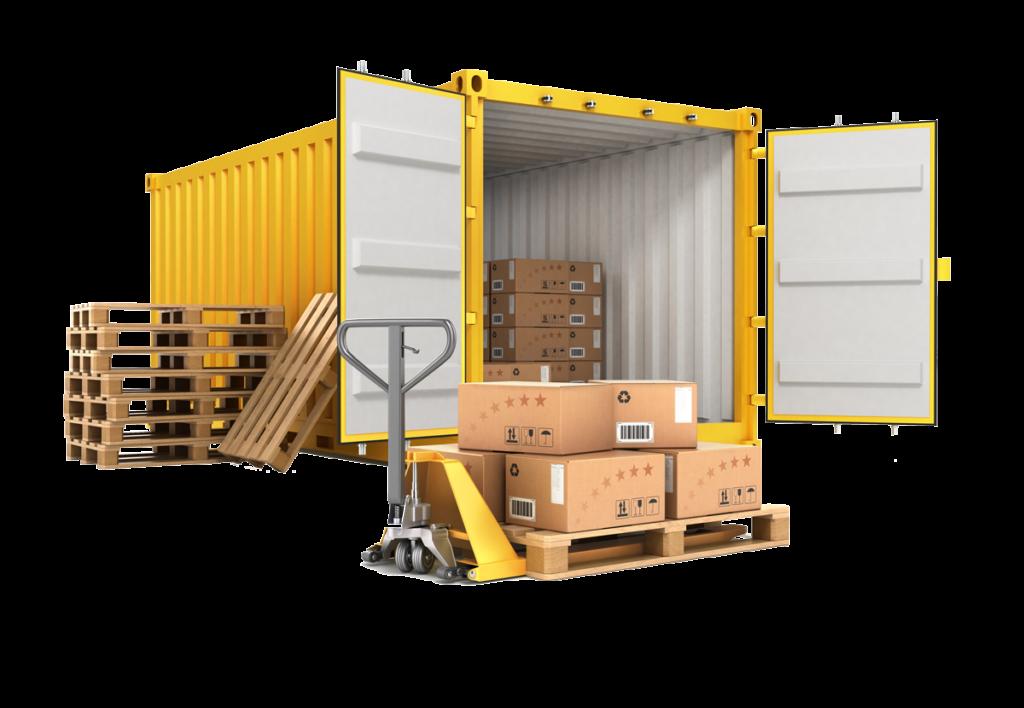 Ein Container der zum Frachtversand, also zum versenden von Fracht, genutzt wird.