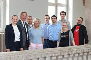 Das Team von Saloodo! mit Studenten der TH Köln.