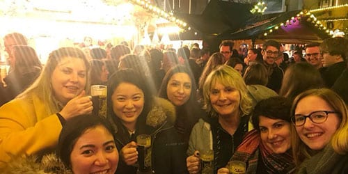 A Saloodo! team gathering at the Christmas market in Bonn.