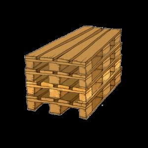Eine Palette die zum Frachtversand, also zum versenden von Fracht, genutzt wird.