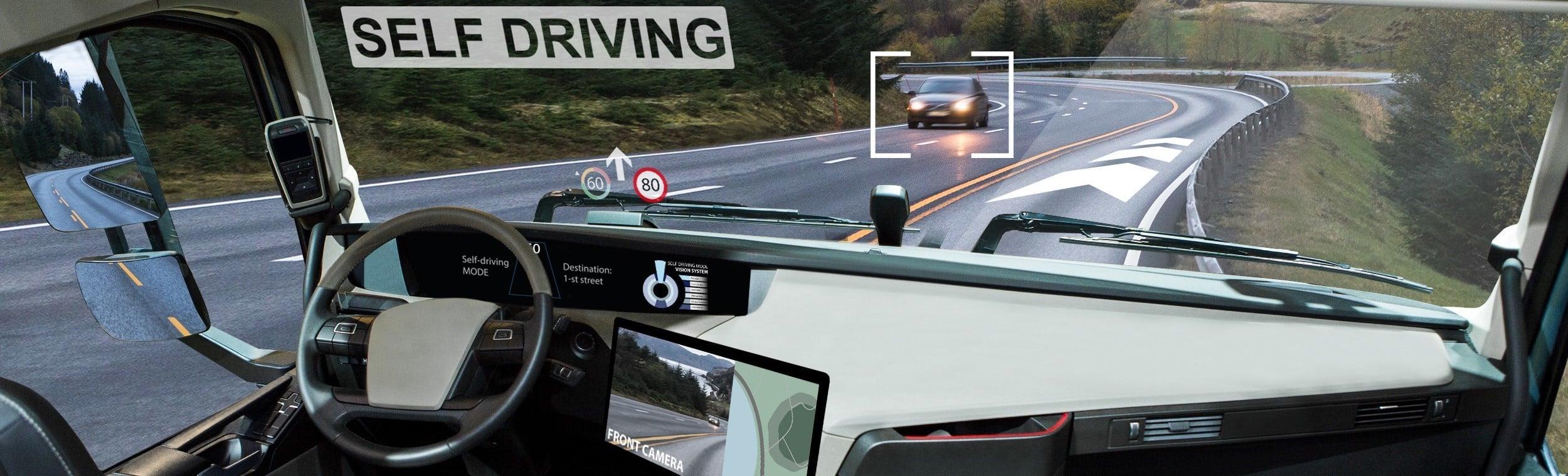Logistik-Berufe wandeln sich durch die Digitalisierung. Aber auch in selbstfahrenden LKW wird ein Mensch sitzen, der dann vielleicht nicht mehr Fahrer, sondern LKW-Operator genannt wird.