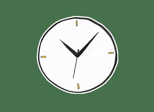 Eine Uhr die das Abholzeitfenster symbolisiert.