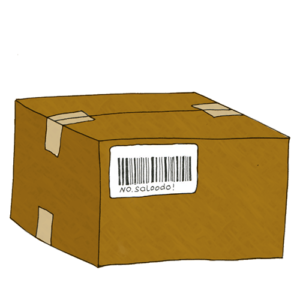 A freight forwarder helped his customer to pack and label a box for Saloodo!