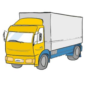 A freight forwarder rented a truck to use it for a transport with Saloodo!