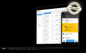 Ein Screenshot von Saloodo!, der Plattform für den einfachen Palettenversand mit Logistikunternehmen wie DHL.