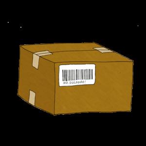 Ein Paket mit einem Tracking Code / Barcode.
