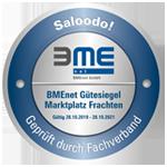 Gütesiegel des BME für Saloodo als effiziente Logistiklösung