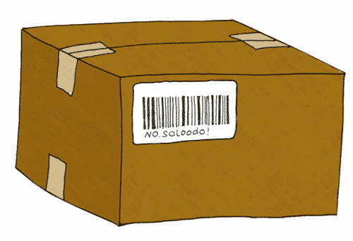 Barcode affix to a package