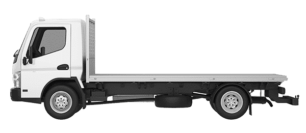empty flatbed truck