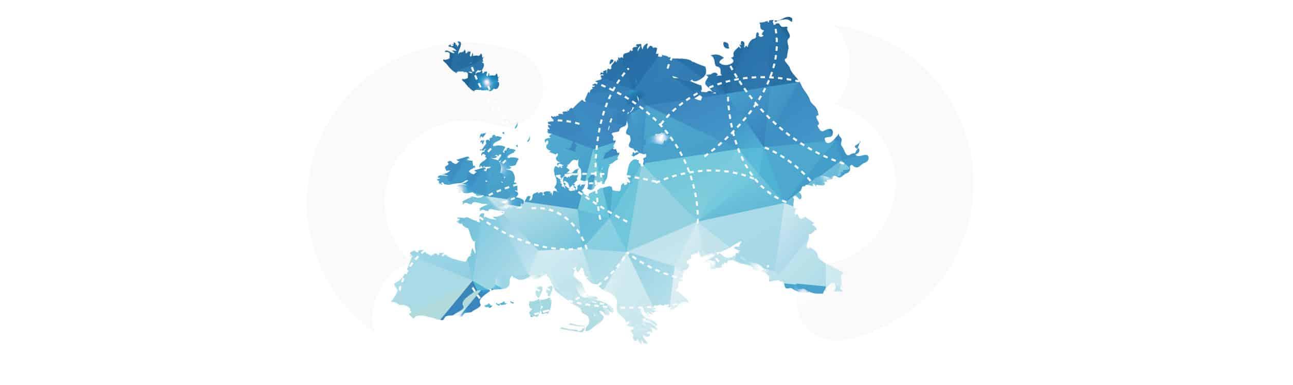 Landkarte von Europa als Illustration zum Artikel über coronavirus COVID-19 LogistiK update
