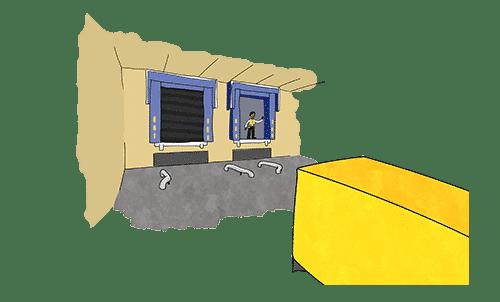 A custom agent watching through the window