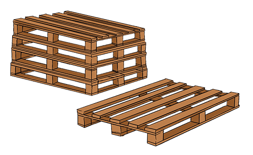 Stacked pallet