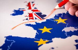 Symbolic image of the UK leaving the EU